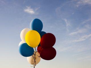 воздушные шары в связке