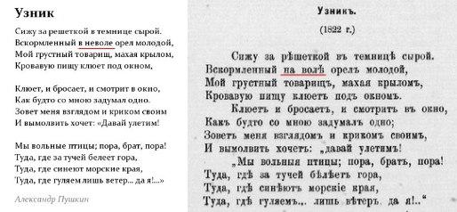 правка Пушкина